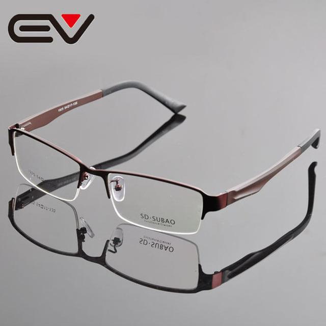 Hombre Half-sin montura de Gafas ópticas Gafas de Montura de gafas de Metal Miopía Gafas armacao Gafas de Grau EV0304-1