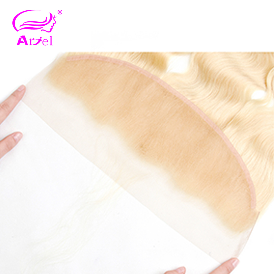 Image 4 - Brazilian Body Wave Frontal Closure 613 Frontal Closure Blonde Transparent Frontal 13x4 Remy Ear To Ear Lace Frontal Closure-in Closures from Hair Extensions & Wigs