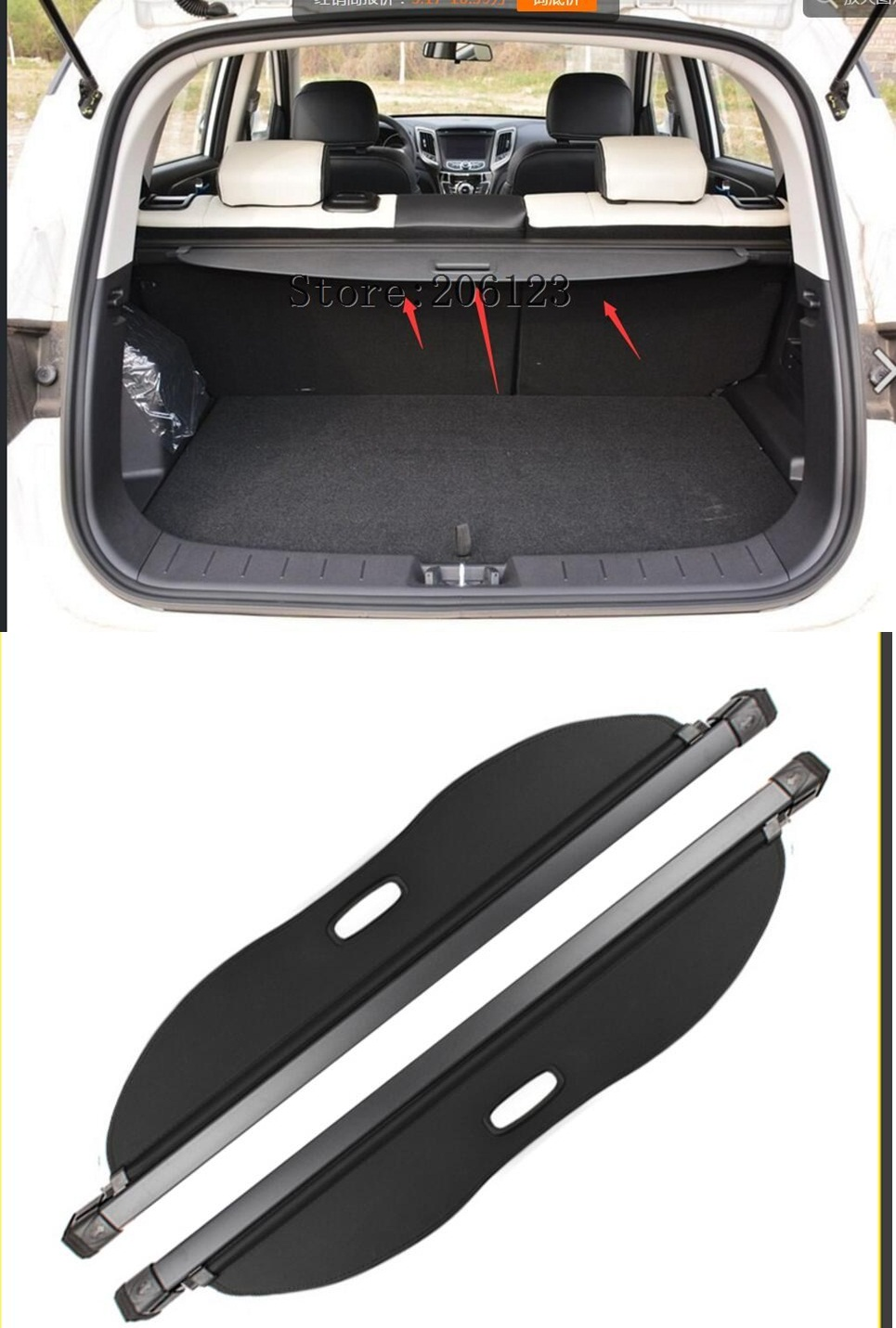 цена на Black Rear Trunk Security Shield Cargo Cover Shade For For CHANGAN CS35 2015 2016 2017 2018