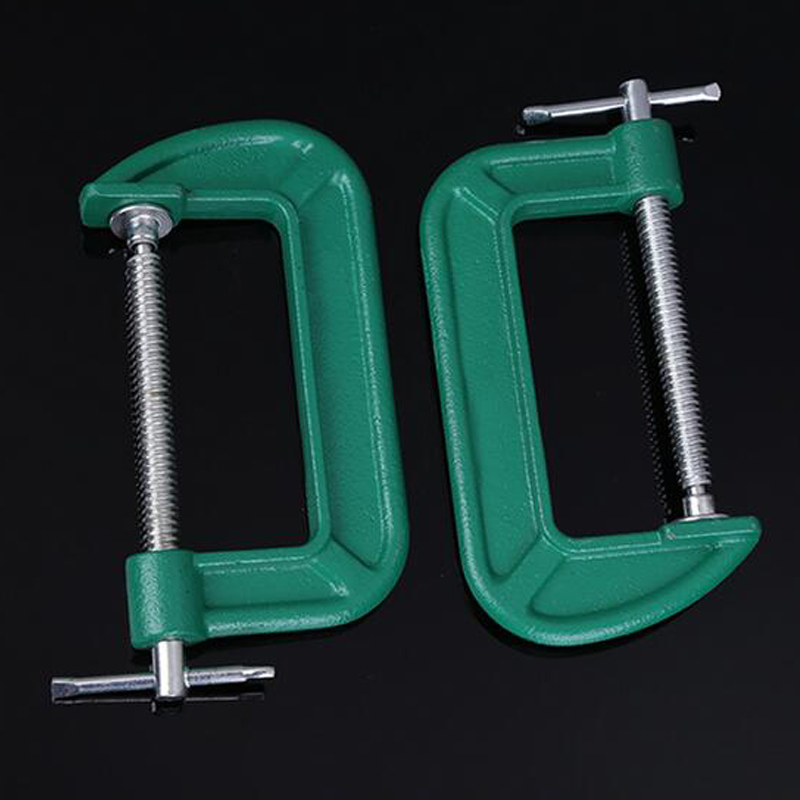 1PCS Manual Quick Fixing Fixture Iron G Clamp Woodworking Clamp (Green color) workpiece holding fixture fast fixture fast fixture clamp bolt 431 with self locking quick clip