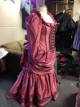 Steampunk Bustle Dress – Victorian Madam- Corseted Jacket Top – Historical Wedding- Courtesan Gown Silk or Cotton