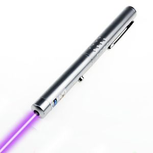 Purple laser pointer teaching