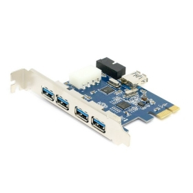50pcs / lots USB 3.0 PCI-E PCI 7 Port 5Gbps Super Speed Express Card Adapter 5Port + 20 Pin Controller ,By Fedex 7 ports usb 3 0 hub with super speed 5 gbps white