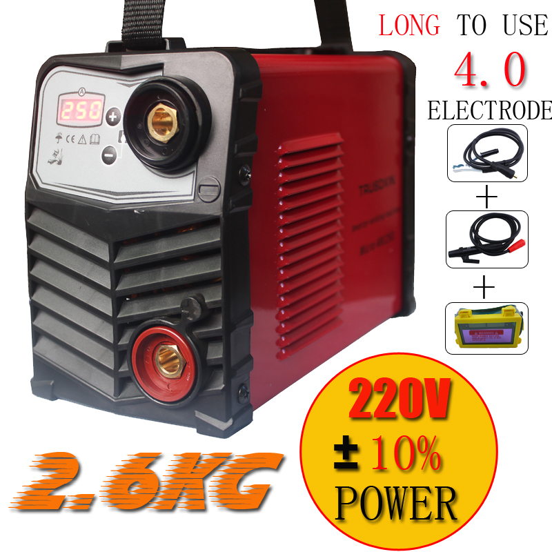 Micro welder Protable Mini IGBT inverter DC MMA welding machine/equipment suitable 4.0 electrode with accessories and eyes mask promotion welder new 220v only 2 5kg 200a hand inverter dc mma igbt diy welding machine equipment and 1 pcs solar eyes mask