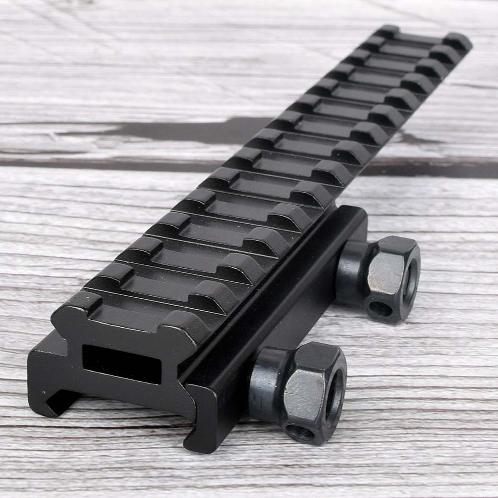 Tactical Extened High Riser Base Flat Top 143mm 14 Slots For 20mm Picatinny/Weaver Rail Mount Hunting