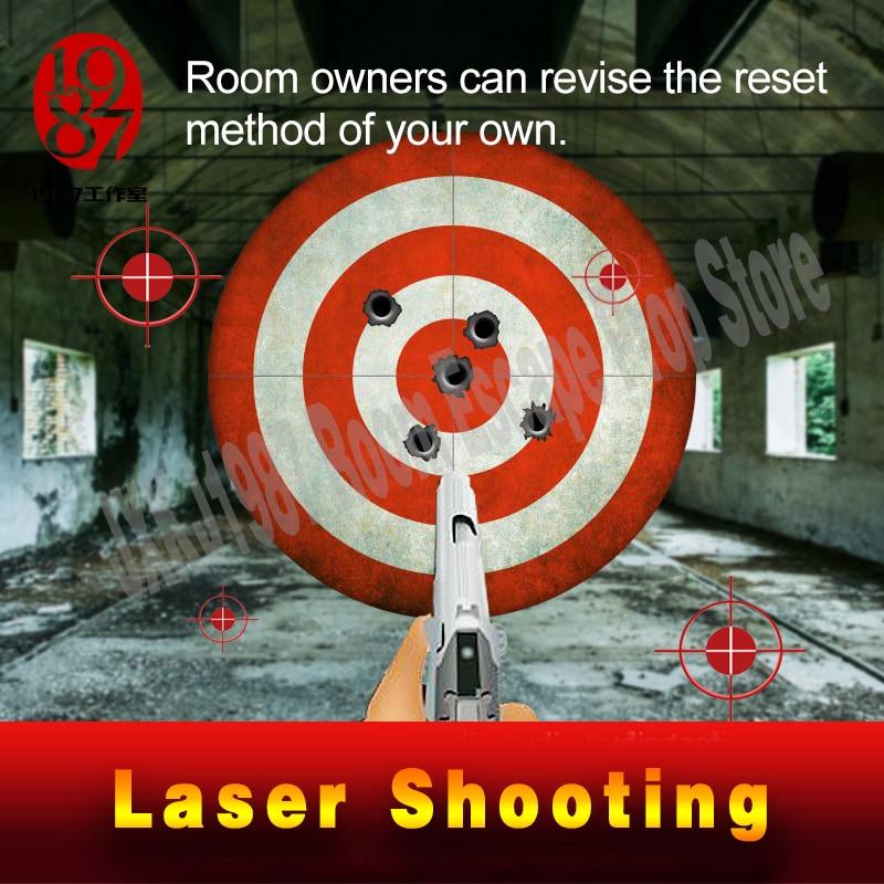 Le takagisme jeu prop jeu de tir laser electronicshooting le laser cible à ouvert verrouiller réelle vie room escape accessoires jxkj-1987