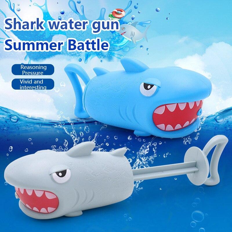 Children's Bathroom Bath Piglet Water Spray Gun Toy Pull-Type Pig Double Water Hole Summer Beach Water Gun