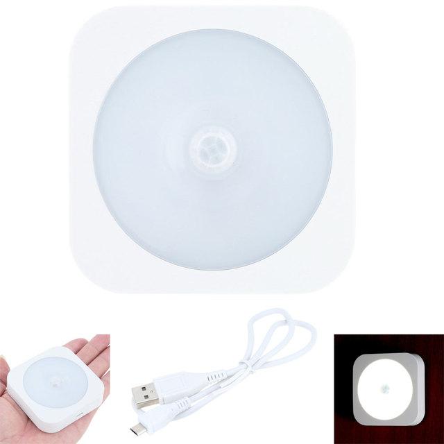8 LEDs Sensor de Movimento LED Night Light Cabeceira Armário De Construir-na Bateria De Lítio Recarregável Sem Fio LEVOU Sensor De Luz Lâmpadas