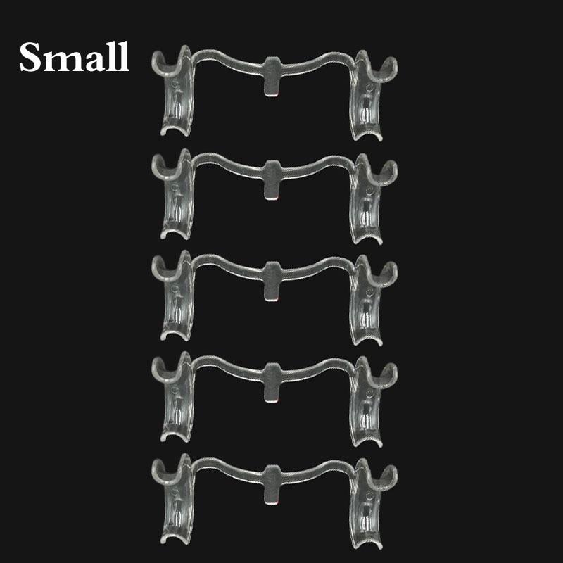 10 peças/lote Dental Cheek Retractor Boca Abridor de Lábio Expansor M-forma Tamanho Pequeno Branco Claro