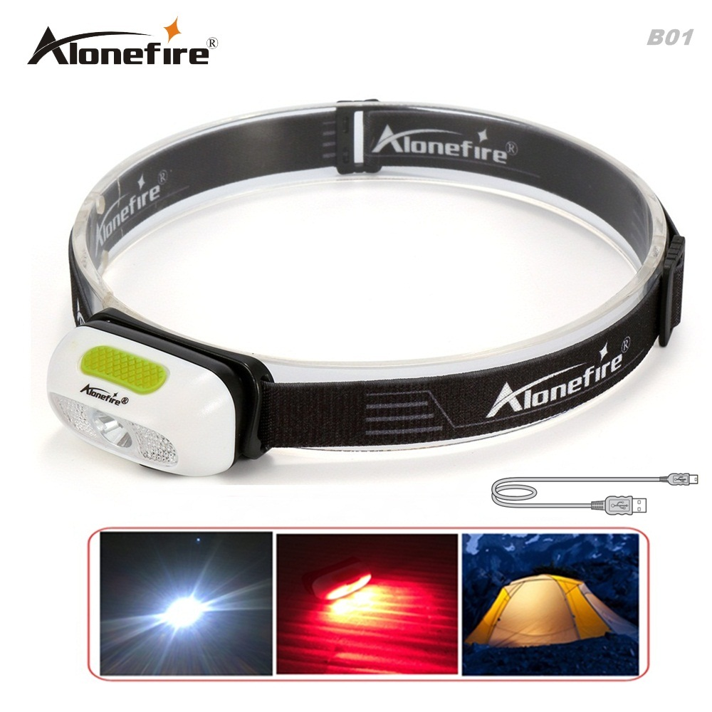 AloneFire MT-B01 mini Rechargeable LED Headlight Headlamp Flashlight Head Lamp Torch Light+USB Cable/Built-in 1000mAh battery цена