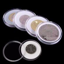 Caixas de armazenamento de moedas de plástico cápsulas titular 46mm claro recipiente caixa de exibição # h0vh # transporte da gota