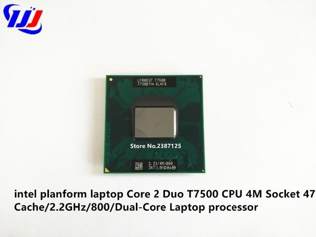 Intel Core 2 Duo en planta portátil T7500 CPU 4 m Socket 479 Cache/2,2 GHz/800/Dual -Core portátil procesador
