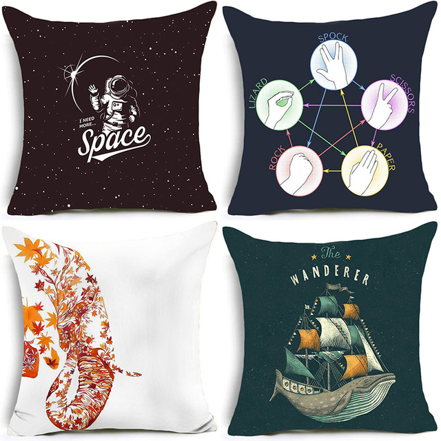 Astrology E Cushion Covers Decorative Nordic For Sofa Outdoor Furniture Cover With Zipper