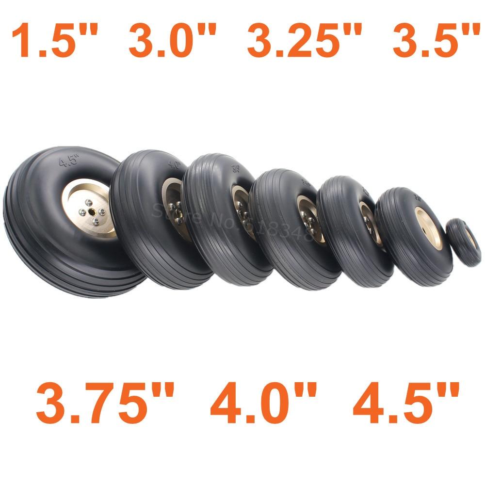 2pcs Tail Wheels Rubber PU Alloy Hub 1.5