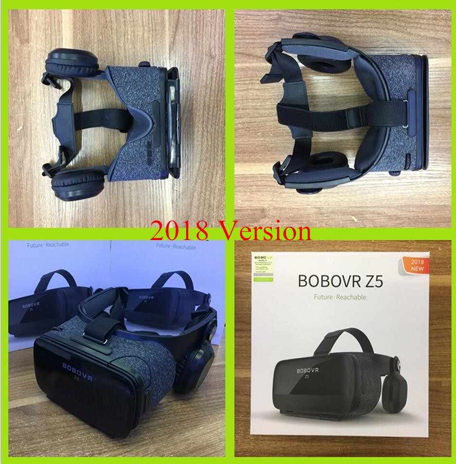 BOBOVR Z5 3D Cardboard Helmet 120 FOV Virtual Reality Vr Box Glasses Android Cardboard Stereo Headset Box for 4.7-6.2' Phone