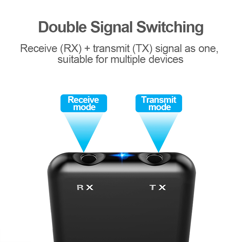 Image 4 - 2 in 1 Transmit Receive Wireless Bluetooth AUX Adapter 4.2 3.5mm Jack Audio for Tables TV Home Sound System Car Stereo System-in USB Bluetooth Adapters/Dongles from Computer & Office