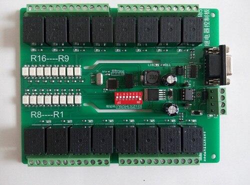 Бесплатная доставка 16 serial bus панель управления реле MODBUS 485 интерфейсный модуль