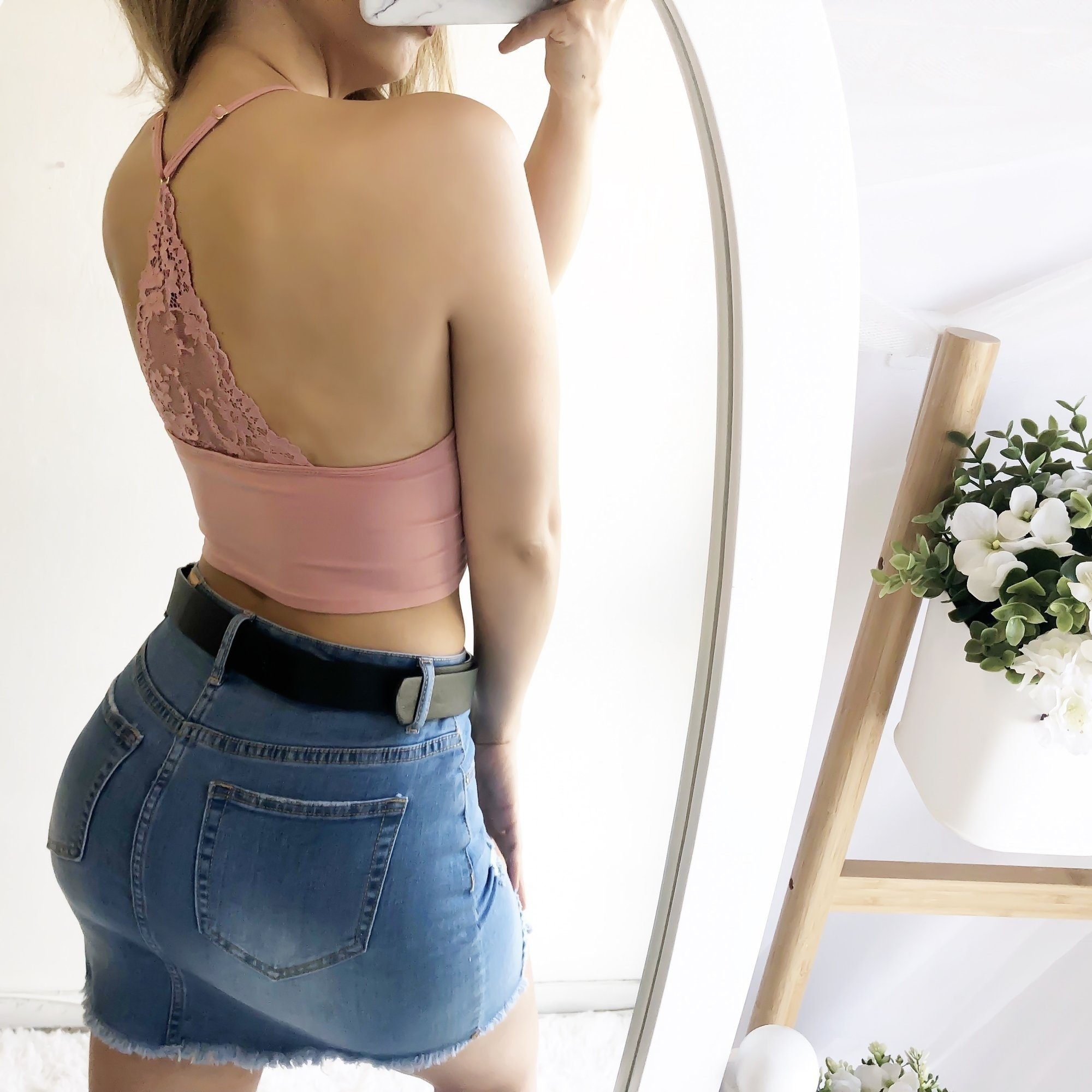 Women 39 s Fashion Floral Lace Triangle Casual Cropped Shirt Underwear Camisole Shirt T shirt Deep V neck Vest Shirt Blouse in Bras from Underwear amp Sleepwears