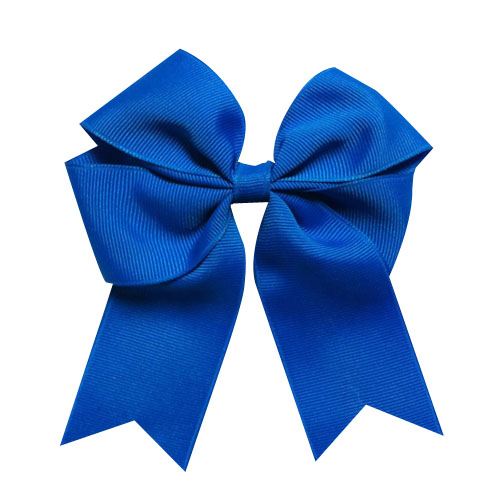 "WomensDate Più Caldo Carino 12 Pz/lotto 4 ""Wholesale Lots Tails Giù Solid Grosgrain Blu Royal Cheer Bow/Cheerleading Cappellini"
