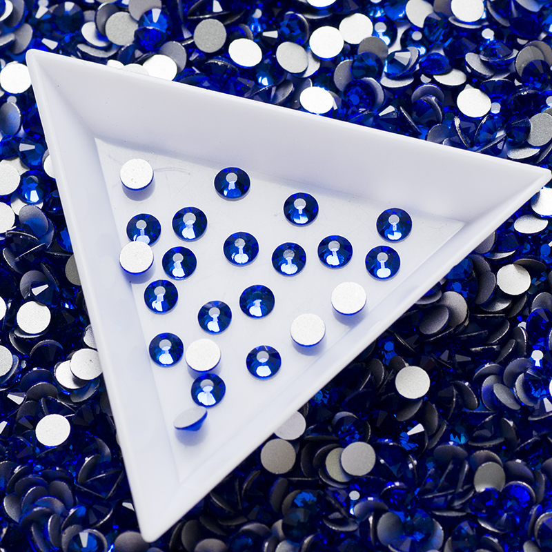 Blue Crystal Stones SS20 4 6 4 8mm 1440pcs box Craft Gems Flatback Sapphire Non Hotfix RhineStones for Clothes in Rhinestones from Home Garden
