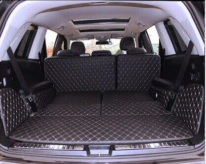 ¡Buena calidad! Alfombrillas de maletero especiales para Mercedes Benz GLS 350d 7 asientos 2019-2016 alfombras de bota de forro de carga duraderas para GLS350d 2018