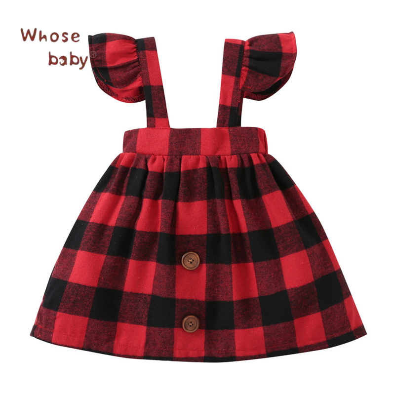 2018 Printemps Bébé Fille Robe À Carreaux Volant Shoulderless Robes pour  Fille Coton Toddler Enfants Costume Infantil Enfants Vêtements bac310cf2b0