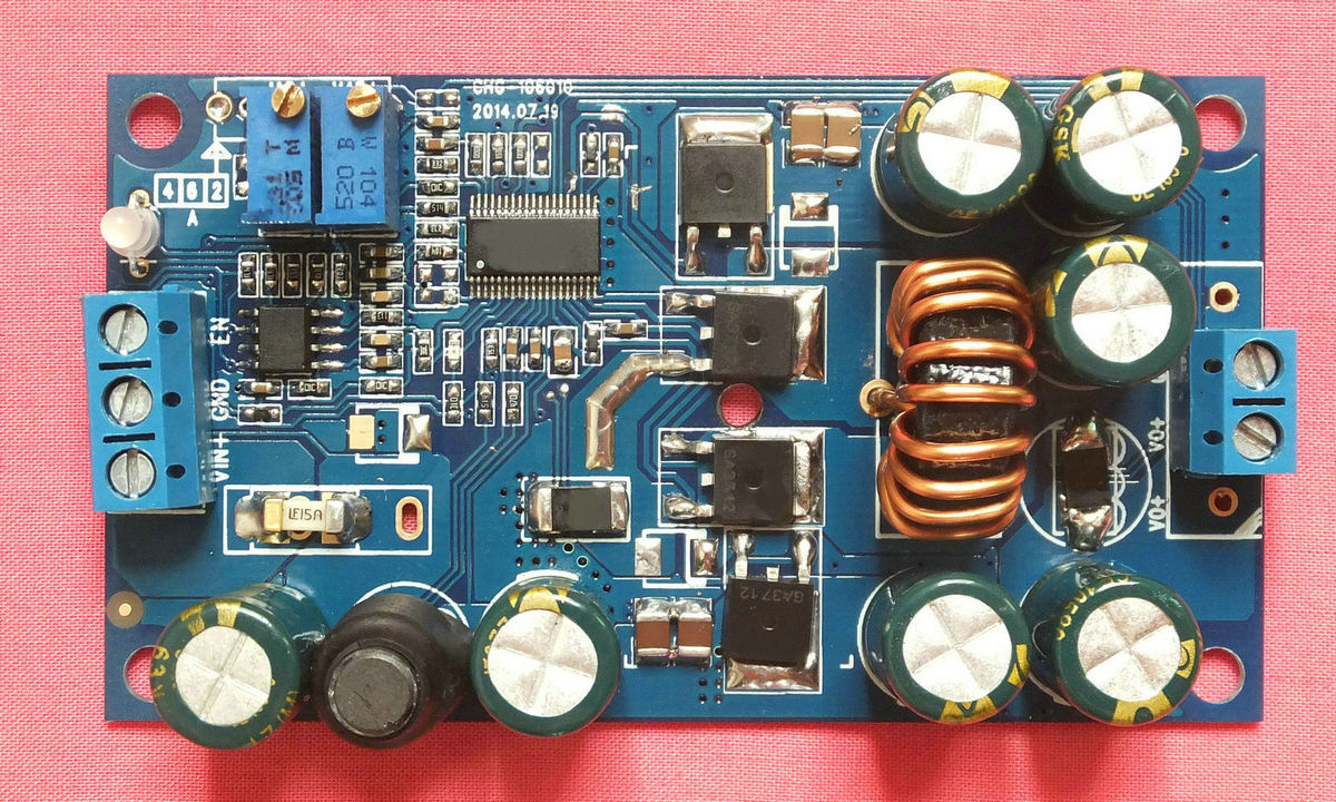 Automatic lifting and charging module constant current constant voltage charging module high voltage version 10-60V input 6A ltc3780 dc dc automatic lifting and pressing solar energy vehicle voltage constant voltage constant current power supply module