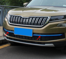 2pc Stainless steel for SKODA KODIAQ front grille decorate Bright Trim