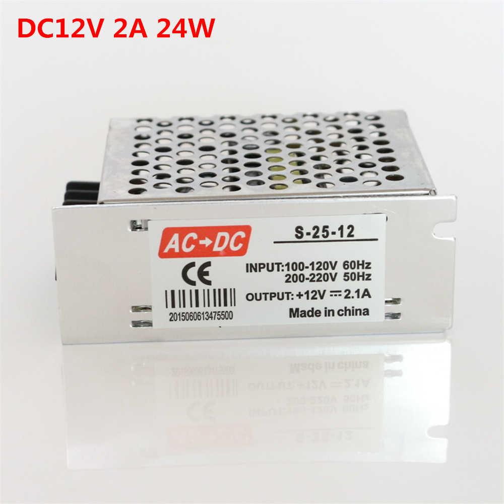 Новый 12 V 1A 2A 3A 5A конвертер адаптер AC100-240V для DC12V 12 Вт 24 Вт 36 Вт 60 Вт Питание трансформатор для 5050 3528 Светодиодные ленты света