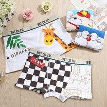 4 Pcs/lot Boys Underwear Children Cartoon Animal Print Cotton Panties Boxer Briefs Shorts Toddler Kids Bottoms 2019 New 2-10T