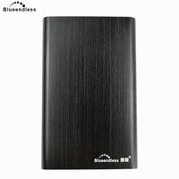 Blueendless 외장형 하드 드라이브 500 gb sata-usb hdd 2.5 외장형 hdd 기계식 드라이브 (알루미늄 하드 드라이브 인클로저 포함)