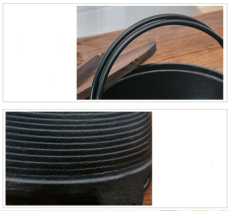 Japanese Cast Iron Non-Stick Pot 4