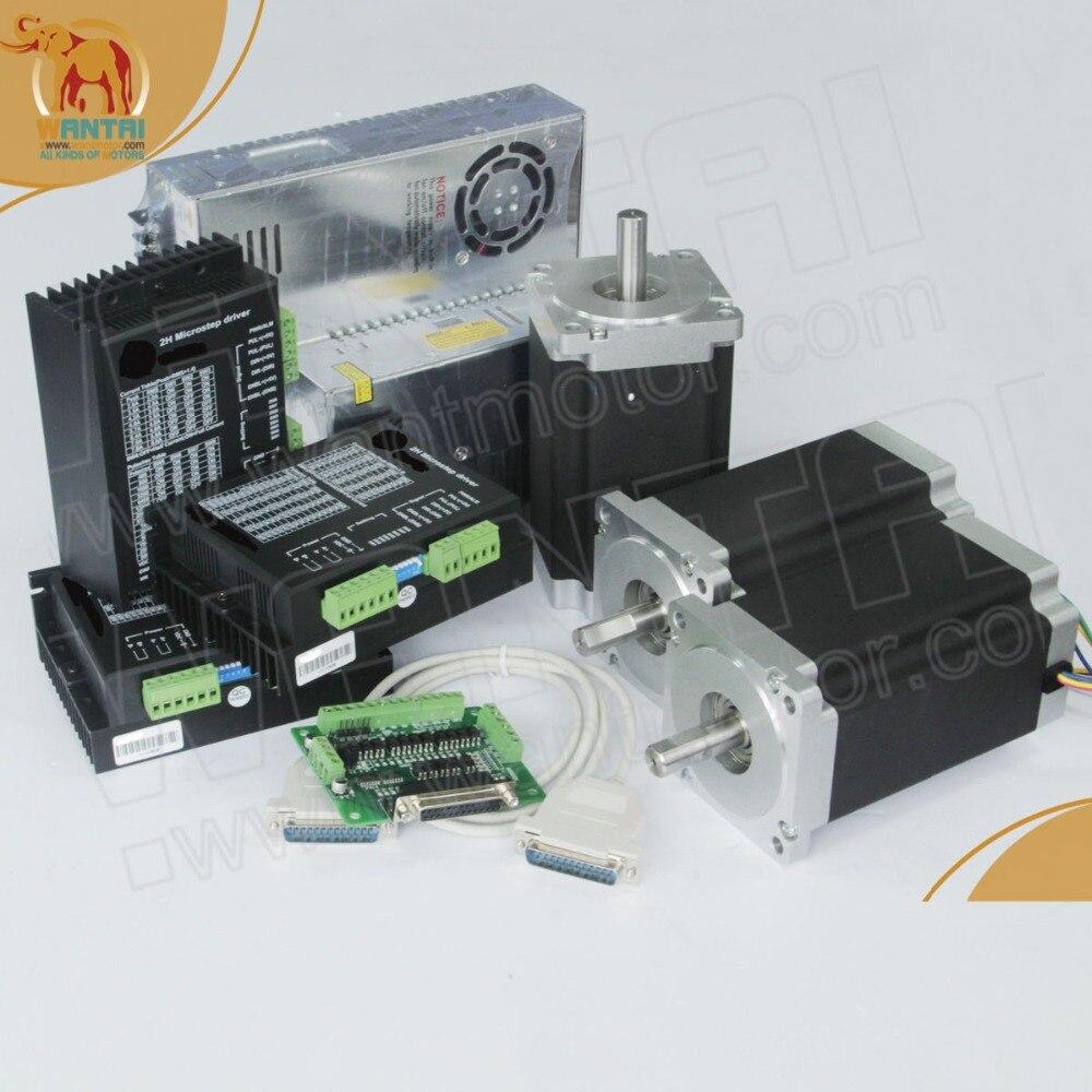 [DE à EUR] Wantai 3 axes Nema34 moteur pas à pas 85BYGH450C-012B double arbre 1600oz-in + pilote DQ860MA 7.8A80V + KIT DE CNC d'alimentation
