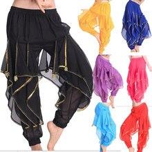 Egipto Bollywood 8 colores faldas de danza del vientre falda oscilante pantalones de danza del vientre traje profesional vientre de la India danza pantalón
