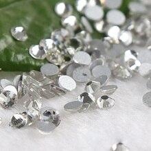 1440PCS SS4  Clear Crystal Nail Art Non HotFix Flatback Rhinestones applique strass DIY  Rhinestones