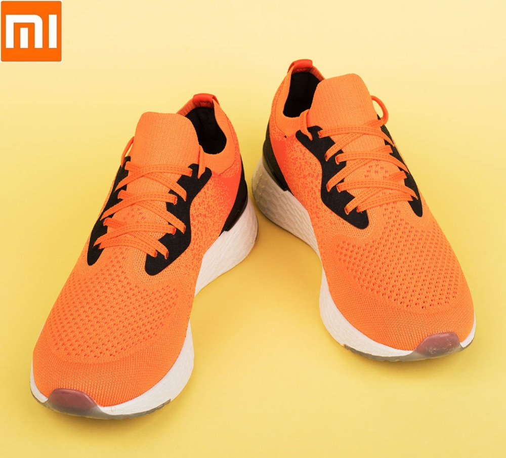 Xiaomi COOLMAX Flying weaving Running Light Breathable quick drying sports shoes Shock absorption rebound Leisure Sneaker