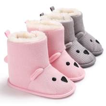 Newborn Baby Cartoon Winter thickening Short Baby Girl Boy Soft Booties Snow Boots Infant Toddler Newborn Warming Shoes #FT15(China)