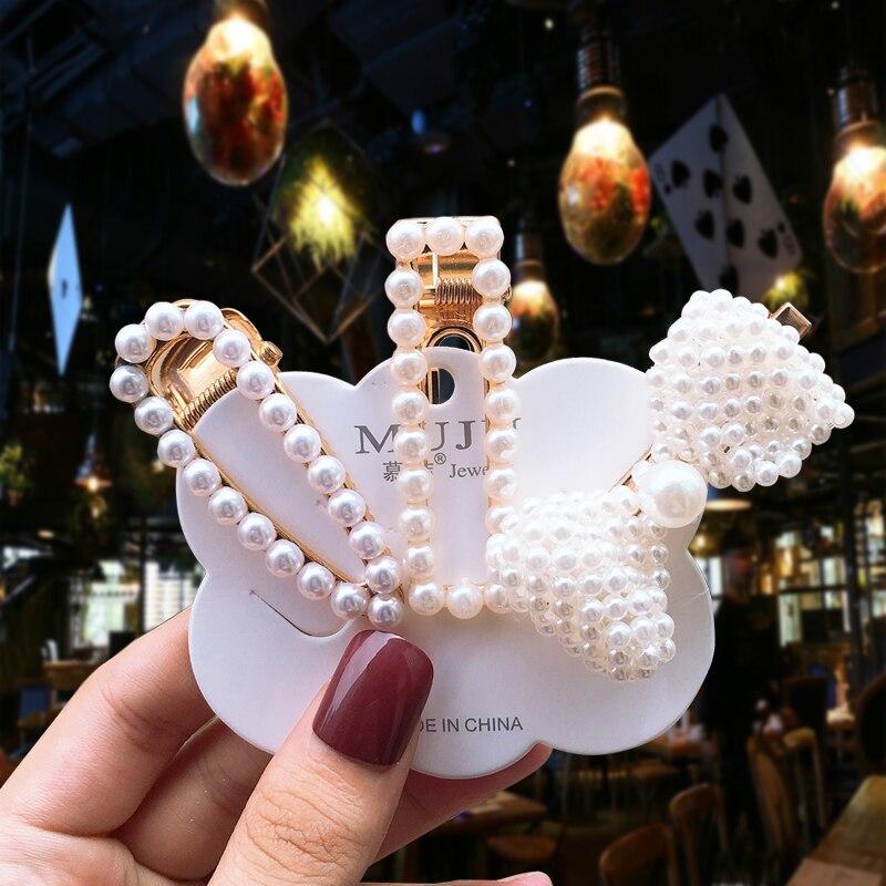 Cute Big Pearl Geometric Hairpins Hair Clip Alloy BB Fashionable Hairgrip Women   Headwear   Girl Accessories Hair Accessories