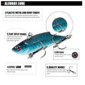 Image 3 - 5.5cm 9g VIB פתיונות פלסטיק קשיח דיג פיתוי חי 3D עיני כף Isca פיתיון קשה פיתיון בס מינאו crankbait VIBE Wobbler ספינר