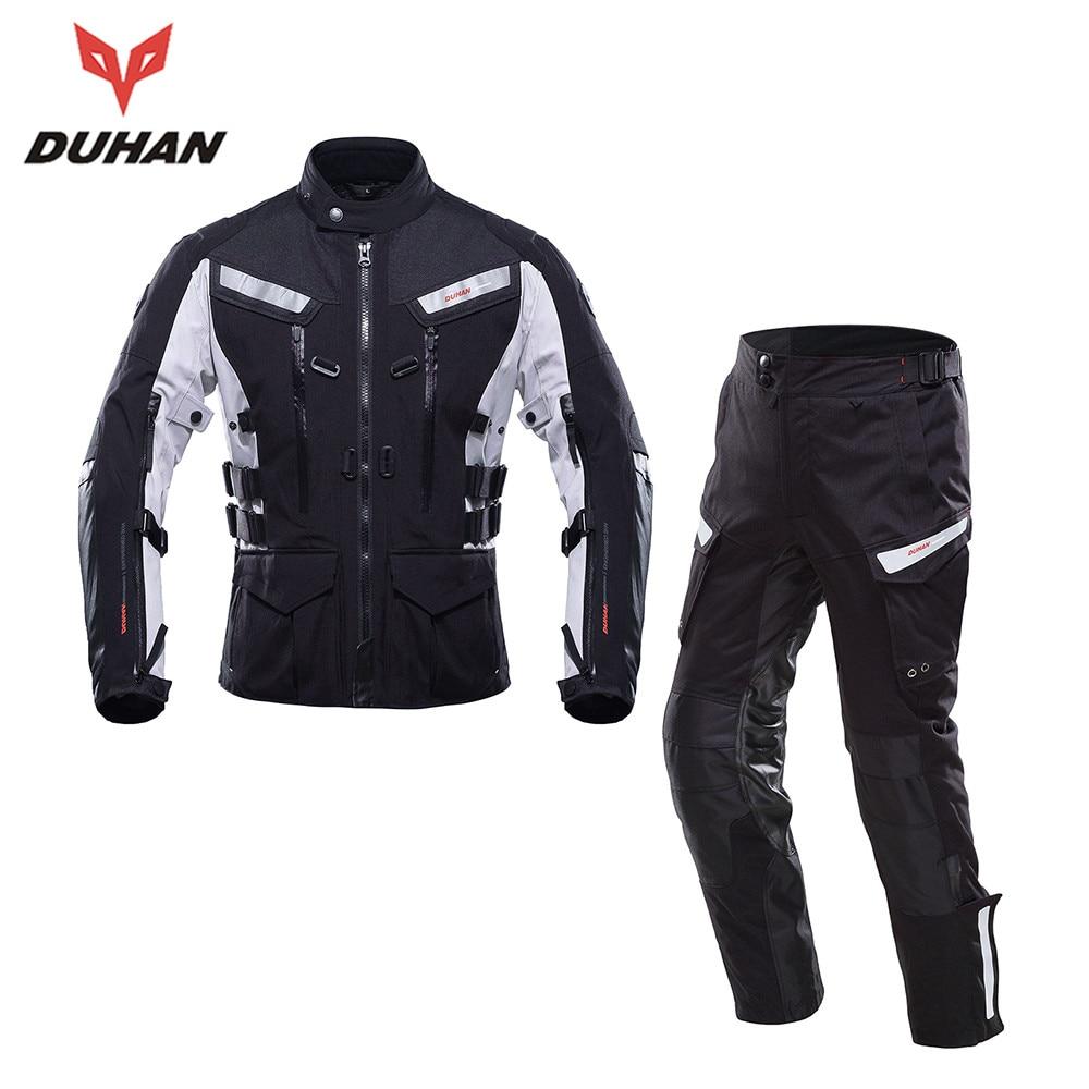 DUHAN Professional font b Men b font Motorcycle Touring Travel Riding font b Suits b font