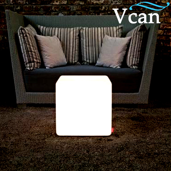 Best Quality LED Light Colorful Cube Side Table stools VC-A300 for party best quality waterproof outdoor led cube vc a400 furniture to eventing in 2016