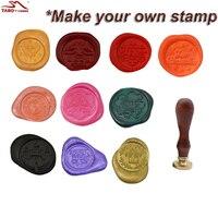 Vintage Fancy Feather Custom Picture Logo Wedding Invitation Wax Sealing Stamp Based Rosewood Metal Handle