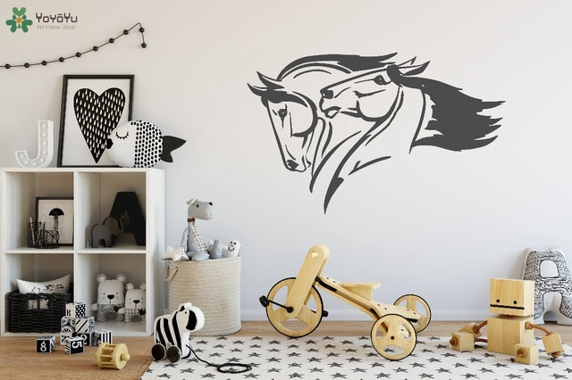horse animal wall decal for kids room vinyl wall sticker horses