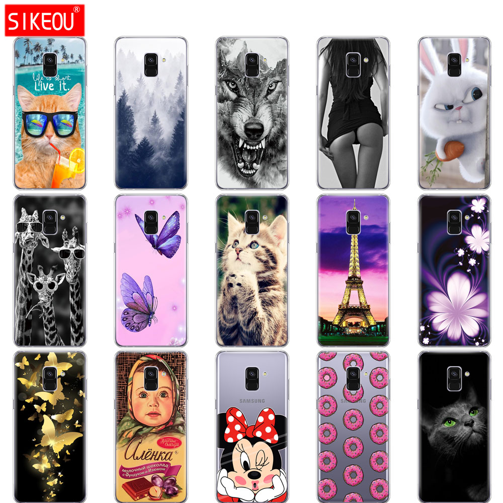 SIKEOU Soft TPU Phone Case For Samsung Galaxy A8 2018 A530 A530F silicone Cover For Samsung A8 Plus 2018 A730 A730F Clear Case