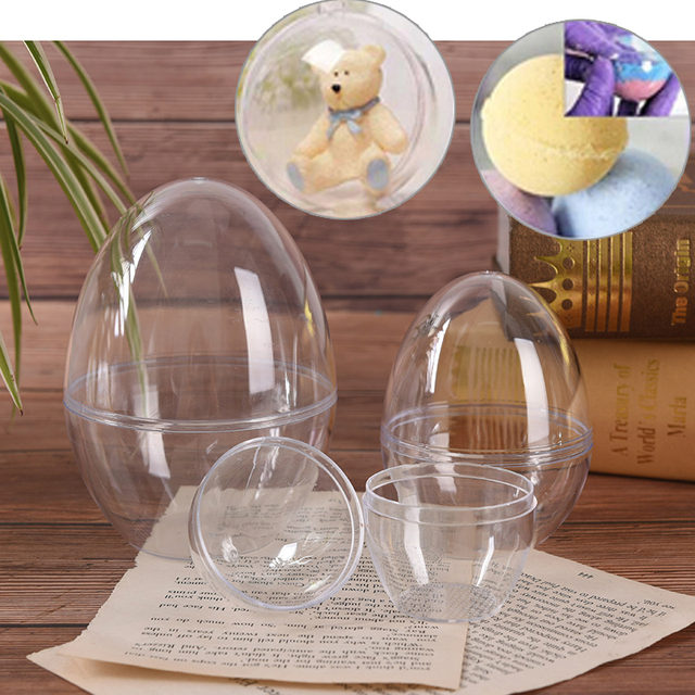 1Pc Plastic Clear Mould Reusable Eggs Shape Crafting DIY Bath Bomb Mold Home Hotel Decor For Christmas Gift Bath Care Tool 4