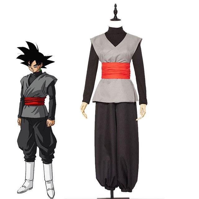 Anime Super Dragon Ball Son Goku Kai Zamasu Preto Cosplay Traje do Carnaval  de Halloween Outfit da827e131fd9