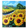 Russian National Flower Sunflower Pictures Of The Diamond Embroidery Crafts Square Drill Needlework Canvas Fabric Diamond