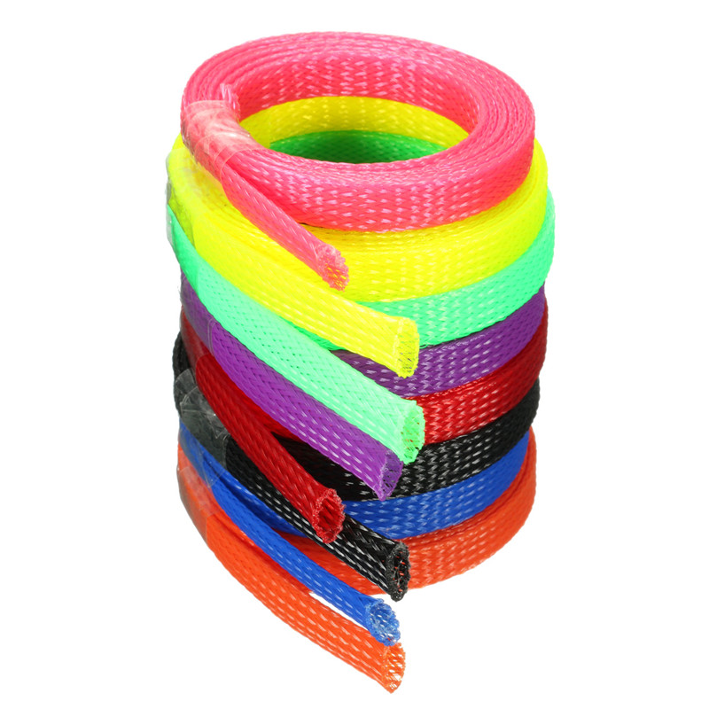 1m 8mm Braided Cable Sheathing Tidy Mesh Expandable Sleeving Cable Wire Harness Sheathing Best Price