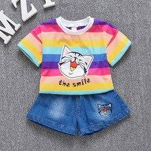 fb4b6a347 الاطفال الملابس ل فتاة الأطفال الفتيات الملابس بوتيك زي عيد الميلاد الكرتون  القط رياضية عيد الرياضة