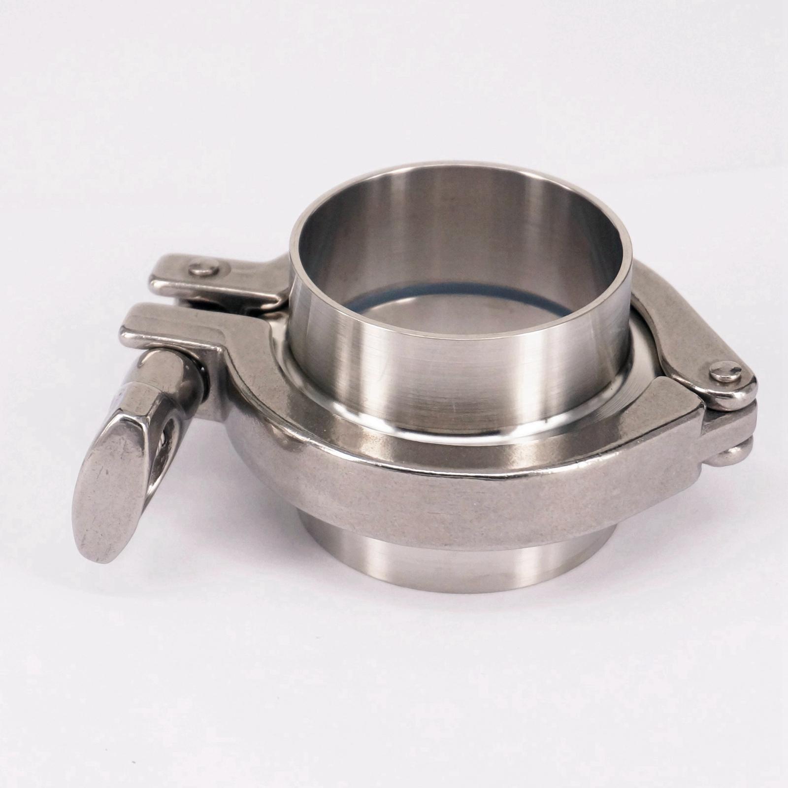 A Set 51mm O/D Sanitary Tri Clamp Weld Ferrule + 2